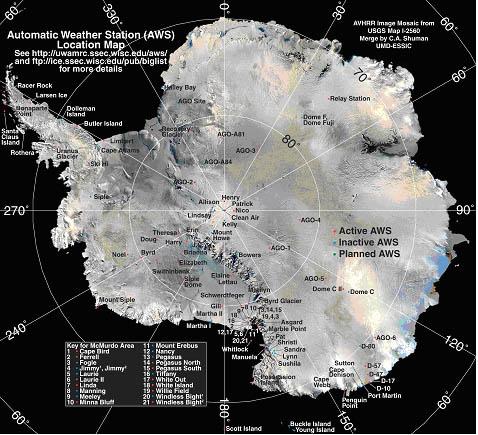 USITASE US International TransAntarctic Scientific Expedition - Mt laesen on us map